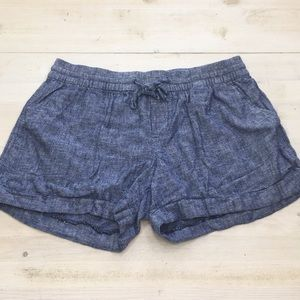 Old Navy chambray linen blend shorts sz 8